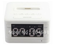 HOTMIN Multi-Function Docking Station Speaker MP3 Player with FM  SD  USB for iPod-white