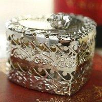 GAGA !Free shipping  High grade wedding favours sillver metal heart-shaped  wedding box /jewellery box  AB01