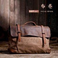 Free shipping.Man' geniune horse lether bag.fashion handbag.best briefcase.canvas shoulder bag