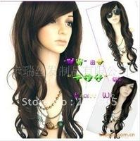 JF061 Vogue beautiful brown hair curl fashion wig ABJ