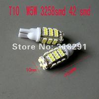 Wholesale 100pcs/lot white T10 194 168 192 W5W 1206 smd 42 smd super bright Auto led car  lighting wedge auto lamp1