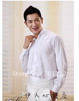 Men's shirts suit stage performance studio shirt suits host clothing MC long-sleeved shirt