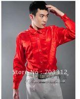 Studio theme personal photo stage costume clothing chorus long sleeve shirt dress shirt