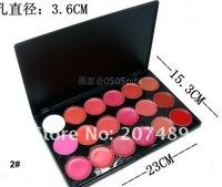 18 full color makeup palette professional comestics set lip gloss Lipsticks Gorgeous wholesale