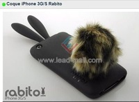 new arrival rabbit sillicone case  for iPhone 3G/S free shipping by dhl