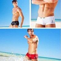 2014  Free Shipping !    Swimming trunks flat man swim trunks fashion classic man swimming trunks 3 colorS  S M L SIZE