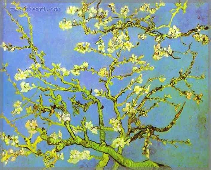 Ramos de amendoeira em flor Saint-Remy fevereiro 1890 óleo sobre tela 20 x 24 polegada vangogh-0053(China (Mainland))