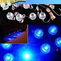 Fashionable 2x4 Round Blue 12V Glow Led Car strip Interior Light Atmosphere Decorative Lamp Waterproof,4018