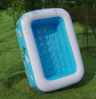 110cm 2 layers pvc inflatable square swimming pool, baby water pool
