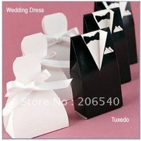 New Arrival European American Style Romantic Wedding Dress Candies box sweet packing 200pcs/lot