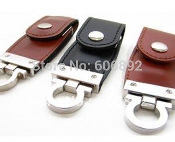 NEW pu leather 2GB 4GB 8GB 16GB USB 2.0 Memory hard disk Flash Drive 5pcs/lot drop shipping