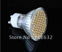 WHOLESALE 50PCS/LOT GU10 60 SMD 110v-120v LED DAY WHITE /WARM WHITE SPOT LIGHT BULBS LAMP EMS FREE SHIPPING