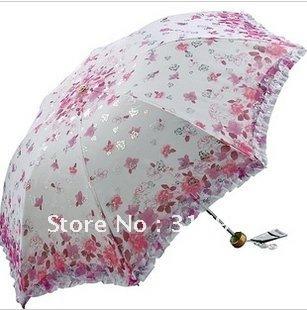 Free shipping! ultra-light brand anti-ultralight UV folding rain/parasol Manual Umbrella, 1pc