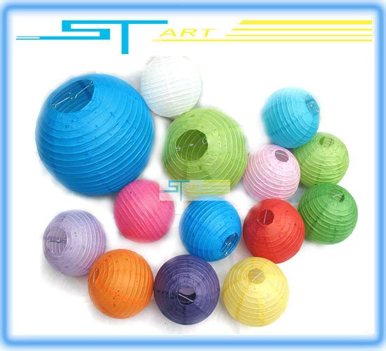 45PCS /LOT EMS Free shipping Round chinese Paper Lantern - party supplies - Halloween / christmas / Wedding favour Decorations(Hong Kong)
