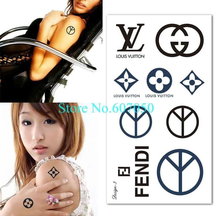 High Quality 10pcs/lot NEW Fashion Brand Logo Waterproof Temporary Body Tattoo Sticker+Free Shipping(China (Mainland))