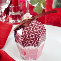 Free Shipping, Candy box, gift package,rustic and romantic ,muffin Wedding favors and gifts!