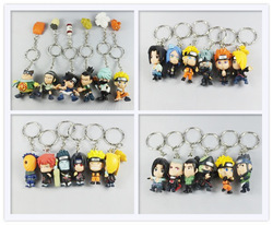 Wholesale/Retail 2012 Free Shipping Japan Anime Naruto Uzumaki Naruto Sasuke Kakashi PVC 24pcs Mini Toy/Gift Keychain Figure(China (Mainland))