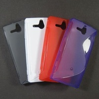 hot sell  free shipping  20pcs/lot  S-line S line Curve Gel Case Cover For Sony Xperia U / Ericsson ST25i