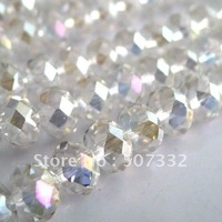 Free Shipping!! 6mm AAA Top Quality Crystal Clear  AB colour Crystal 5040 Rondelle Beads 600pcs/lot B06401AB