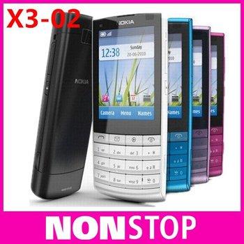 X3-02 Unlocked Original Nokia X3-02 3G Mobile Phone EMS/DHL Free Shipping 5pcs/Lot