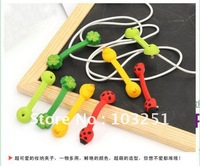 FREE SHIPPPING 2pcs/pair Cartoon style Earphone cable Winder / Coiling device / food sealing clamp +Free gift