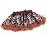 Factory outlets,10pcs/lot,Pop leopard+2 colors+5 sizes,girls fashion tutu skirt,kids pettiskirt dancewear,babys summer clothing