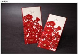 Wedding invitation, invitation card, CW1014, include envelope and customised printing, wedding cards, free shipping(China (Mainland))