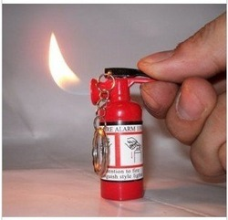Free shipping fire extinguisher design cigarette lighter(China (Mainland))