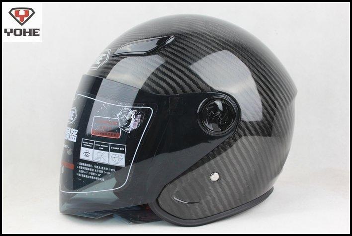 YH-823 motorcycle Carbon fiber helmet open face helmet DOT ECE Scooter Moped Custom helmet(China (Mainland))