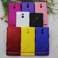 hot sell  free shipping  20pcs/lot Rubber Hard Back Cover Case for SONY XPERIA P LT22i
