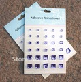scrapbook gem sticker,30pcs square gem self adhesive sticker for handicraft