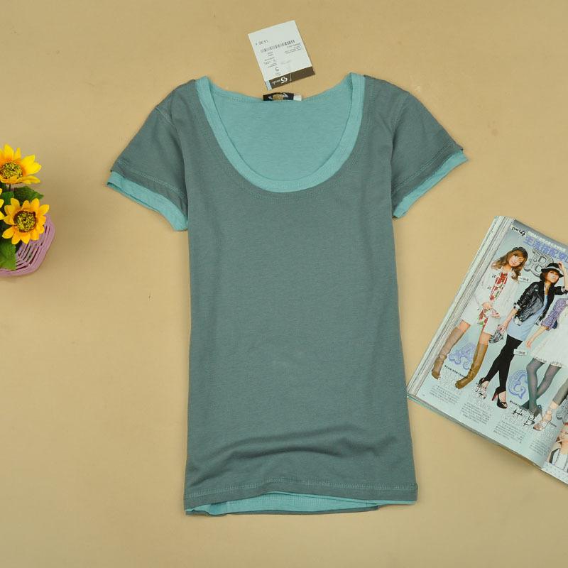 Free-shipping-women-s-shirt-2013-AMIO-Women-double-layer-100-cotton-o