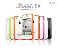 SGP Steinheil NEO Hybrid EX series colorful Bumper frame Case For iPhone 4 4S,1 pc, 11 color, Free shipping