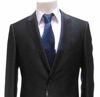 NWT Alfani 44S Solid Black Wool Mens Suit cy41