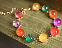 New sweet candy color acrylic ball bracelet/hand chain ,fashion jewelry