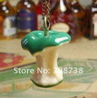 Novlety item Cute Apple Core Necklace,Colorful Apple core Necklace Chain,Green/Red color