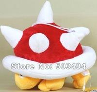 "Retail 1PCS  Free Shipping Super Mario bros Plush Spiny 8"" Soft Plush Doll Toy Cute"