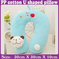 animal model PP cotton embroidery U shaped pillow yellow duck_Free Shipping