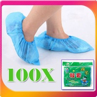 Hot sale! & Free shipping 	100 Disposable shoe covers overshoes carpet protection floor protectors