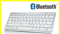 Free shipping Bluetooth Wireless White Keyboard for PC Macbook Mac ipad 2 iphone 8371
