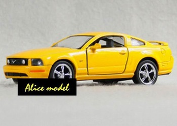 [Alice model]1:38 Yellow Ford Mustang Sports Super Luxury racing car alloy metal bus sedan truck jeep models