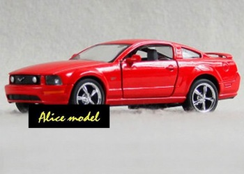 [Alice model]1:36 Red FORD Mustang GT Sports Super Luxury racing car alloy metal bus sedan truck jeep models
