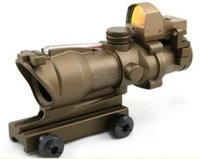 Tactical 4x32 CrossHair ACOG Rifle Scope with Reflex Red Dot Sight free ship