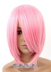 Hokage.Haruno Sakura.1730.12 inches Pink short costume cosplay wig,Classic Cos Wig.free shipping(China (Mainland))