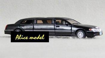 [Alice model]1:24 Black Lincoln Sports Super Luxury rally racing cars alloy metal bus sedan truck jeep models