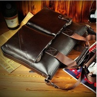 2012 NEW ARRIVAL EXCELLENT QUALITY   Genuine Leather man Business shoulder bag Handbag 100% Hot sell !!!FREE SHIPPING