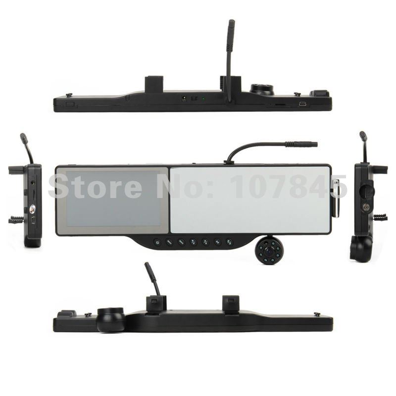 New arrival 5 inch car rear view mirror monitor + HD 720P Dvr+GPS navigation +4GB TF card+ Bluetooth headset +AVIN Drop shipping(China (Mainland))