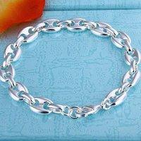 H133 wholesale fashion 925 silver men's bracelet tennis chain jewelry free shipping