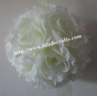 30cm cream foam center artificial kissing wedding decoration flowers ball