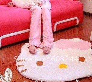 FreeShip 1 Piece Hello Kitty Cartoon Bedroom Carpet 79*65cm Floor Doormat Mat Rug Pad Head Car Carpet Gift